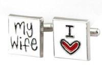 'I Love My Wife' Cufflinks with Cuff Link Display Gift Box