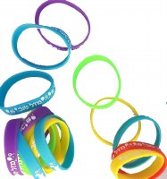 Bracelets Silicone with Mazel Tov Written 18 pack