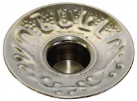 Nickel Candle Holder with Design Large  Count 12