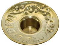 Brass Candle Holder with Design Medium Count 12