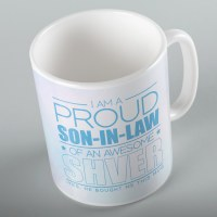 Jewish Phrase Mug I am a Proud Son-in-Law of an Awesome Shver 11oz