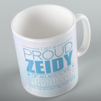 Jewish Phrase Mug I am a Proud Zeidy of an Awesome Grandson 11oz