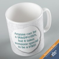 Jewish Phrase Mug Anyone Can Be a Grandmother, but it Takes Someone Special to be a Bubby 11oz