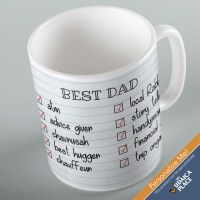 Jewish Phrase Mug Best Dad Checklist 11oz