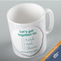 Jewish Phrase Mug Let's Get Together To... 11oz