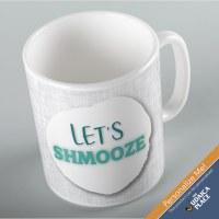Jewish Phrase Mug Let's Shmooze! 11oz