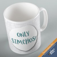 Jewish Phrase Mug Only Simchos! 11oz
