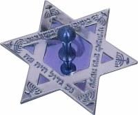 Dreidel Laser Engraved Blue Star of David Shape