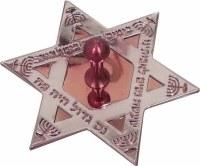 Dreidel Laser Engraved Red Star of David Shape