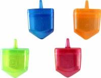 Dreidels Large Fillable Colorful 4 Pack