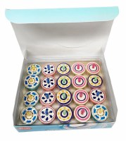 Dreidel Erasers Multi Color 20 Pack