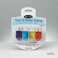 Translucent Dreidels - Set of 4