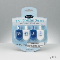 Plastic Dreidels Blue and White - Set of 4