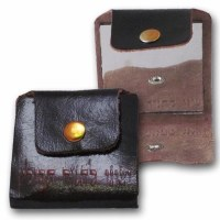 Mini Mirror for Tefilin with Brown Leather Pouch