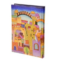 Yair Emanuel Large Decorative Bound Notebook - Jerusalem