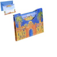 Yair Emanuel Small Notelets and Envelopes with Case - Jerusalem