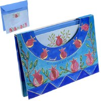 Yair Emanuel Large Notelets and Envelopes with Case -  Light Pomegranates