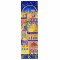 Yair Emanuel Cardboard Bookmark - Jerusalem at Night