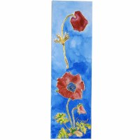 Yair Emanuel Cardboard Bookmark - Big Flowers