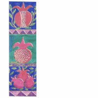 Yair Emanuel Cardboard Bookmark - Big Pomegranates