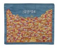 Yair Emanuel Afikoman Bag Full Embroidered Multicolor Jerusalem Design
