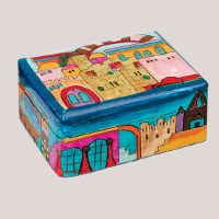Yair Emanuel Travel Candlestick Box with Jerusalem Design