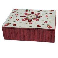 Yair Emanuel Small Embroidered Jewelry Box - Pomegranates