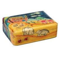Yair Emanuel Meduim Wooden Jewelry Box - Noah's Ark