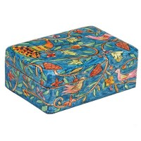 Yair Emanuel Medium Wooden Jewelry Box - Peacock