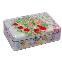 Yair Emanuel Medium Wooden Jewelry Box - Flower Pot