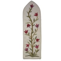 Yair Emanuel Embroidered Bookmark Flowers Style White