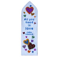 Yair Emanuel Embroidered Bookmark - All You Need is Love