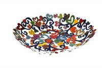 Yair Emanuel Bowl - Large Laser Cut Hand Painted - Hearts
