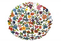 Yair Emanuel Bowl - Large Laser Cut Hand Painted - Flowers