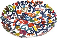 Yair Emanuel Bowl - Small Laser Cut Hand Painted - Hearts