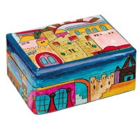 Yair Emanuel Small Wooden Jewelry Box -Jerusalem