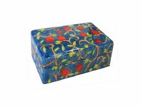 Yair Emanuel Small Wooden Jewelry Box - Pomegranates