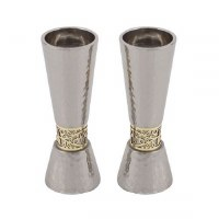 Candlesticks Silver Cone Shaped Designed by Yair Emanuel