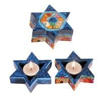 Yair Emanuel Star of David Tealight Holders - Jerusalem