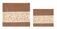 Yair Emanuel Tefillin Bag Microsuede Brown with Pomegranate Design
