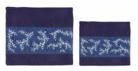 Yair Emanuel Tefillin Bag Microsuede Blue with Pomegranate Design