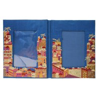Yair Emanuel Embroidered Double Picture Frame - Jerusalem