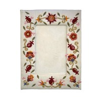 Yair Emanuel Embroidered Single Picture Frame - Pomegranate