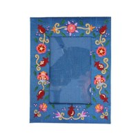 Yair Emanuel Embroidered Single Picture Frame - Flowers