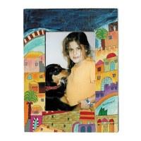 Yair Emanuel Single Wooden Painted Picture Frame - Jerusalem