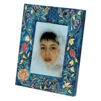 Yair Emanuel Single Wooden Painted Picture Frame - Peacock