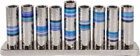 Yair Emanuel Hammered Nickel Menorah with Rearrangeable Branches Blue Rings Design