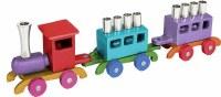 Yair Emanuel Anodized Train Menorah - Multicolor