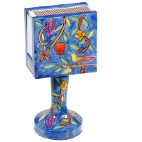 Yair Emanuel Standing Matchbox Holder with Matchbox - Grapes, Birds and Flowering Branches