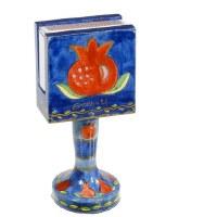 Yair Emanuel Standing Matchbox Holder with Matchbox - Pomegranate